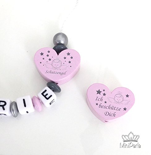 MiniPerle – Schnullerkette mit Namen – Kleine Prinzessin – Schutzengel - 2