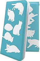AQUOS sense3 plus ケース 手帳型 ねこ 猫 猫柄 にゃー しろねこ 白猫 アクオスセンス アクオス センス プラス 女の子 女子 女性 レディース aquossense3 キャラクター キャラ キャラケース 10036-3dwdsk-10001641-aquossense3
