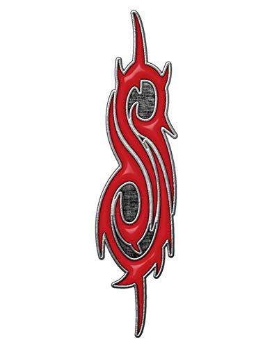 Bester der welt METAL PIN Slipknot ANSTECKER ABZEICHENKNOPF # 6 TRIBAL LOGO S – 4 × 1 cm