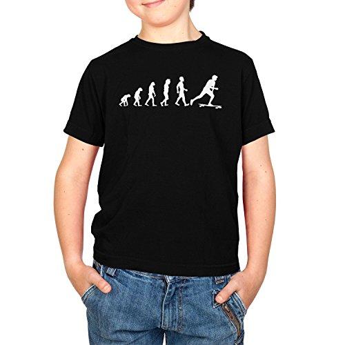 Texlab Longboard Evolution - Kinder T-Shirt, Größe M, Schwarz