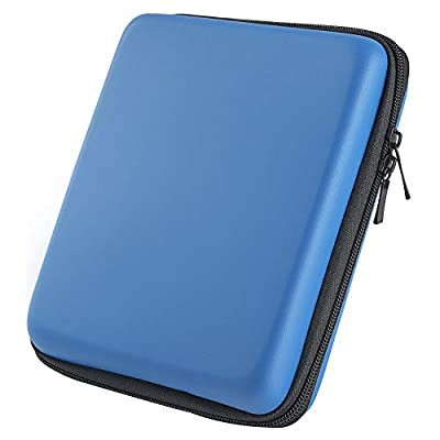 Asiv Protective Travel Carrying Case for Nintendo 2DS built-in game storage with A Double Head Zip Blue