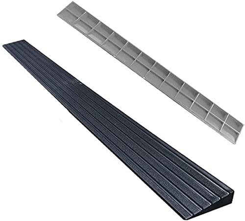 Rampa Rampa de la rampa de bordillo Rampa de triángulo portátil de carga a 2000kg de plástico Rampa de umbral de rampa de interior Pad Pad Mat (Color : Black)