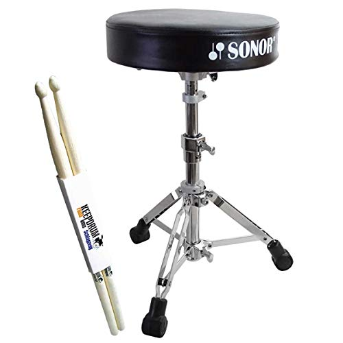 SONOR DT 270 Drumhocker + keepdrum Drumsticks 1 Paar