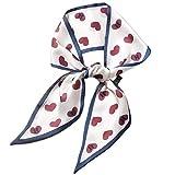 S-TROUBLE Bciou - Bufanda de Cuello Estrecho y Sedoso para Mujer, pañuelo con Estampado Floral Vintage, Diadema