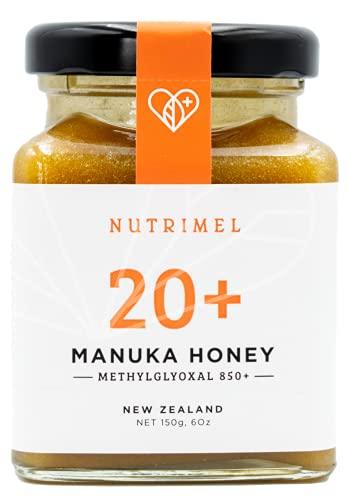 NUTRIMEL Manuka Honig 20+ (MGO 850+) getestet und zertifiziert   100% pur Neuseeland Honig   (20+, 150g)