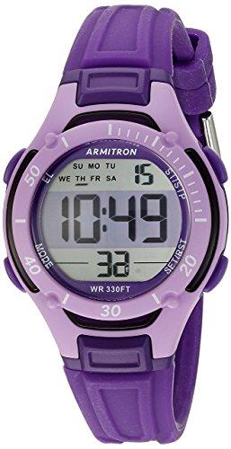 Armitron Women's 45/7062PUR Digital Chronograph Purple Watch