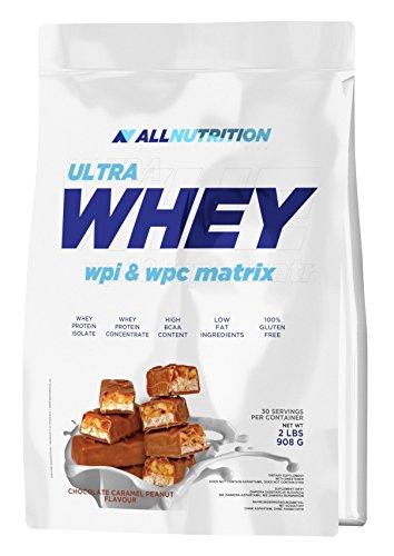 All Nutrition Suplemento de Proteína de Suero de Leche, Turrón Choco Caramelo 910 g