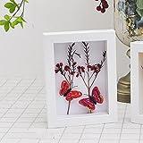 Marco de fotos creativo hueco de 2 cm para manualidades hechas a mano, mariposas de...