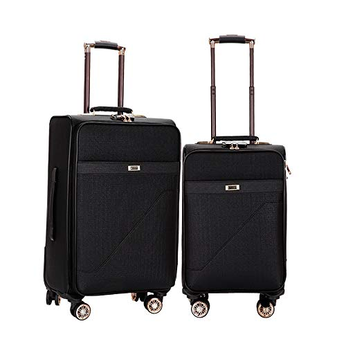 Review Spinner Suitcase 20in 24in Expandable Uprights Luggage 2 Piece Nested Sets Carry-on Softside ...