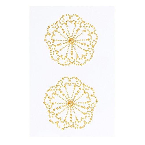 LUOEM LUOEM Damen Nippel Cover Nippelabdeckung Brustschmuck Acryl mit Strass für Bikini Abendkleider Ballkleider Brautkleider (Golden)