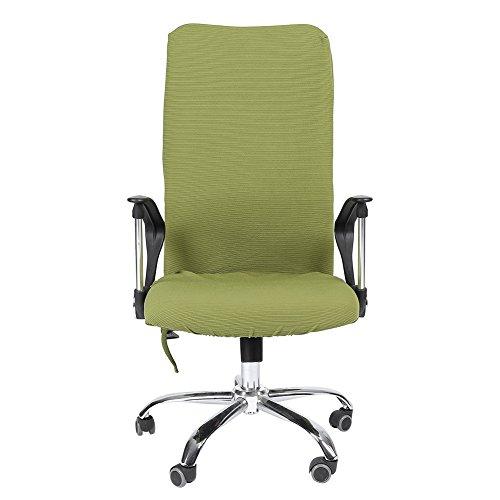 Housse pour Chaise de Bureau Moderne Style Polyester Amovible Extensible Pivotant Fauteuil Confortable Siège Bureau Ordinateur Étirable Rotatif Chaise Couverture Facile à Nettoyer 5 Couleurs(Green L)