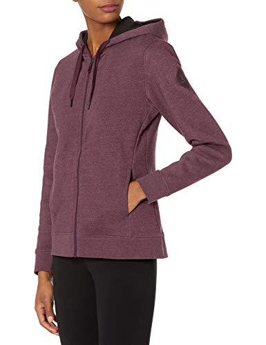 Salomon Women's Standard Essential Full Zip Hoodie, Winetasting/Heather, Large