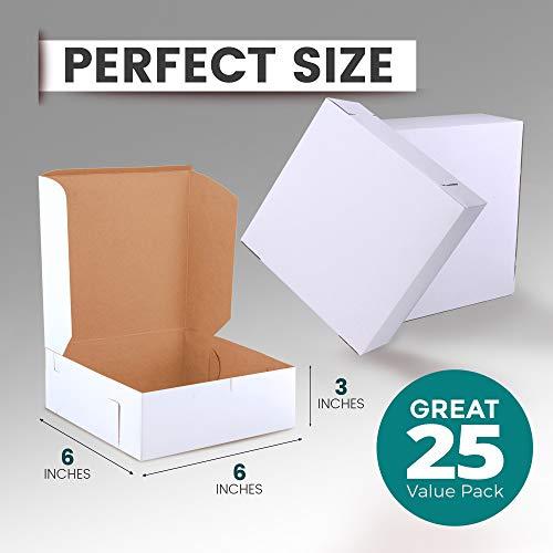 Compostable Small Folding Whole Cake Box Biodegradable White Cake Box 25-250