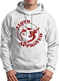 Men's Lloyd Approved Print Hoodie Without Pocket Pullover