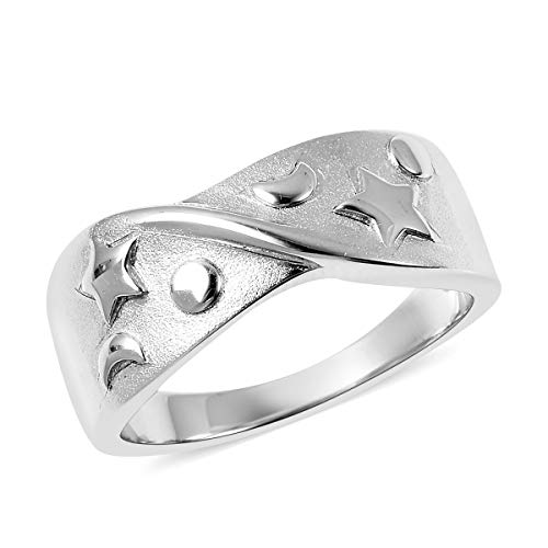 Rachel Galley Silver Band Ring for Women Shinny 925 Sterling Stamped Wedding Jewellery Size L
