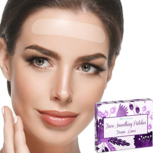 Blumbody Forehead Wrinkle Patches - Face Wrinkle Patches - Facial Anti Wrinkle Smoothing Treatment for Smoothing Frown Wrinkles - 50 Reusable Wrinkle Patches for Face
