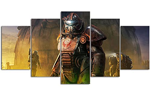 Five Joint Painting Canvas Fall_out Radiation crisis HD imprime 78.7 'x39.4' Decoración de pared Debe usarse con el marco