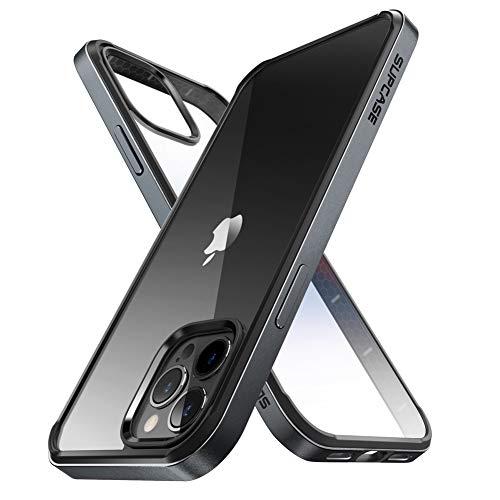 SUPCASE Custodia per iPhone 12 Pro Max (2020) da 6,7 pollici, Protezione Antiurto [Unicorn Beetle Edge] con Paraurti in TPU Trasparente (Nero)