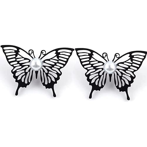 Jpenxv Pendientes Femeninos Coreana Pendientes de Mariposa Negra Girl Elegant Mariposa Pendientes...