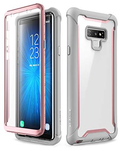 Preisvergleich Produktbild i-Blason Hülle für Samsung Galaxy Note 9 Handyhülle 360 Grad Case Bumper Schutzhülle Transparent Cover [Ares] mit integriertem Displayschutz,  Pink