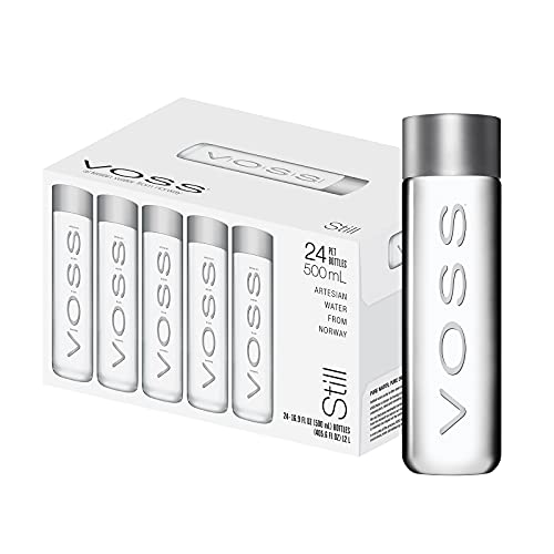 VOSS Still Water – Premium Naturally Pure Water - PET Plastic Water Bottles for On-the-Go Hydration – 500ml (Pack of 24)