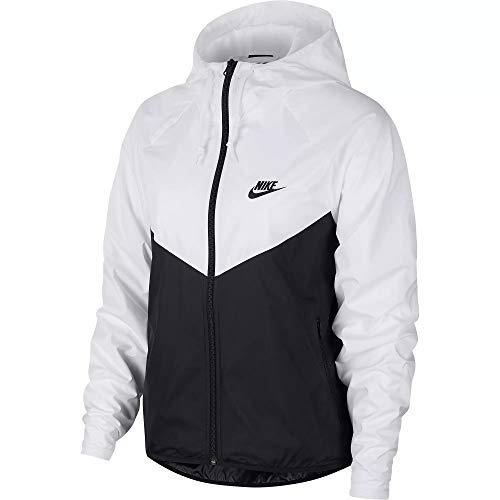 Nike NSW Women Windbreaker Jacke (XS, White/Black)