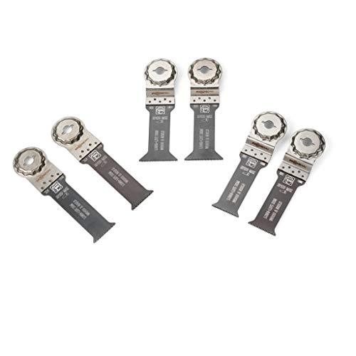 FEIN Wood & Metal 35222967050 Best of E-Cut StarlockMax Lot de 6 Plongeante Outils Multifonction et Lames de scie pour Bois et métal