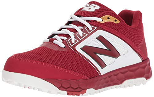 New Balance Men's 3000 V4 Turf Baseball Shoe, Maroon/White, 5 D US
