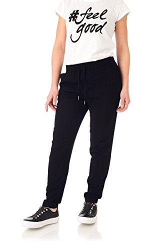ONLY Damen Onlnova Pant SOLID VIS WVN Hose, Schwarz (Black), 36