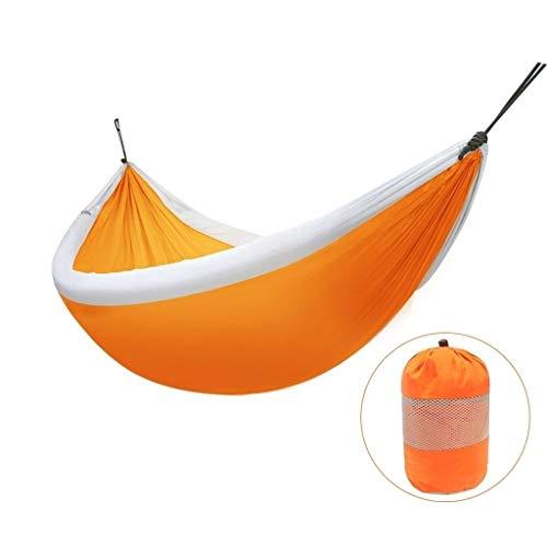 Xuejuan shop Hamacs, balancelles et accessoires Balancelle extérieure intérieure Unique Double hamac étudiant dortoir intérieur Chambre balançoire capacité de Charge 200 kg (Color : Orange)