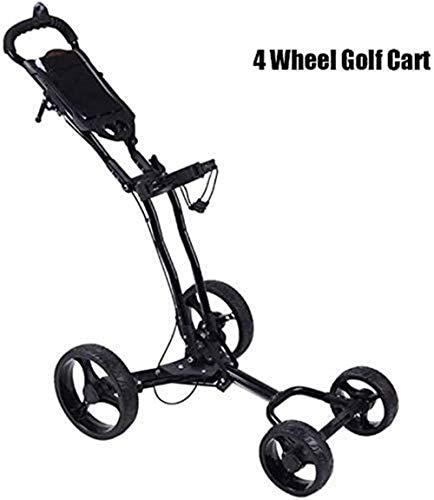 Xyfw Golf Push Cart Golf Cart, 4 Räder Folding Golf Push Cart Mit Getränkehalter Umbrella Scorecard