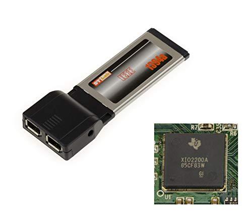 Kalea-Informatique - Tarjeta ExpressCard (34 mm, 2 puertos FireWire IEEE1394a) - CHIPSET TI XIO2200A