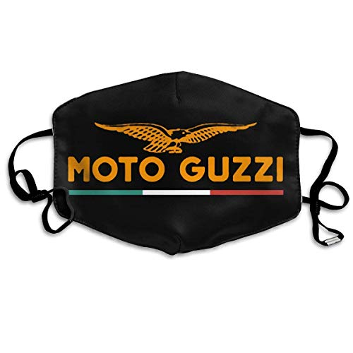 KZNI Mundschutz Reusable Nose Face Cover with Moto-Guzzi Eagle Logo Mouth Cover Adjustable Earloops