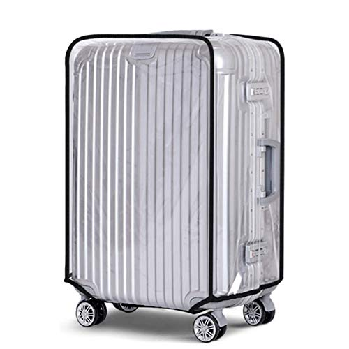 Suitcase Luggage Cover, Transparent Clear PVC Luggage Protector - Waterproof, DustProof and Scratchproof Protective Covers for Wheeled Trolley Case, Baggage (28 Inches)