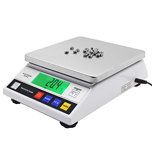 Bonvoisin Lab Scale 6000gx0.1g Counting Scale Digital Analytical Balance Accurate Electronic Scale CE Certification Laboratory Balance Precision Scale Jewelry Gold Scale (6000g, 0.1g)