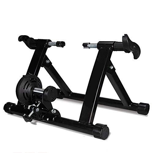 Read About Rindasr Magnetic Resistance Mountain Bike Platform, Foldable Indoor Mountain Bike Trainin...