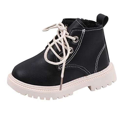 Leder Stiefeletten Kinder Ankle Boots Mädchen Jungen Schnürstiefeletten Mit Reißverschluss Kurze...