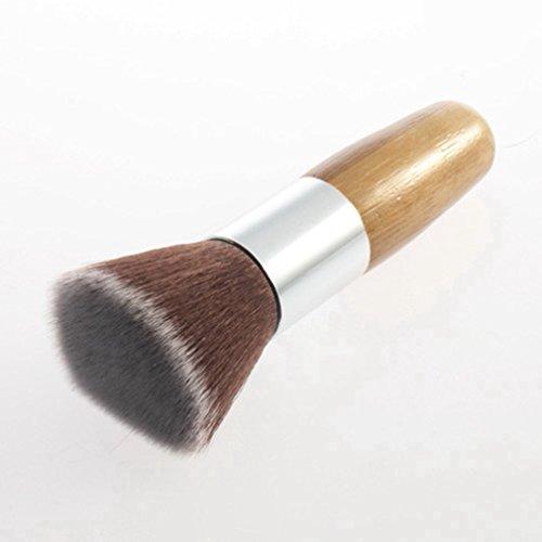 Flat Top Buffer Foundation Poudre Brosse Cosmétique Salon Brosse Maquillage Brosse De Base Couleur du Bois