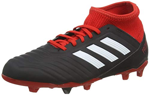 adidas Predator 18.3 Fg, Scarpe da Calcio Unisex-Bambini, Nero (Cblack/Ftwwht/Red Cblack/Ftwwht/Red), 38 2/3 EU