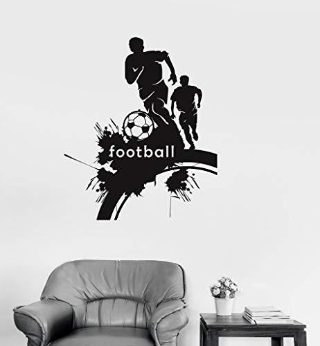 jiushivr Fußball Fußball Sport Fans Wandaufkleber Jungen Raumdekoration Aufkleber ungiftig PVC Tapetenwandaufkleber Wandbilder 74x93cm