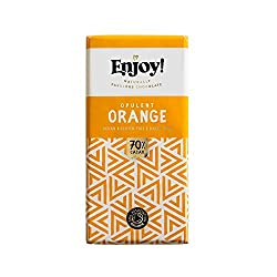 Classy chocolate bar flavoured with zesty orange oil Contains 70 percent premium quality cacao solids Pure taste to savour, together Velvety smooth texture in the mouth Made with just four naturally fabulous ingredients