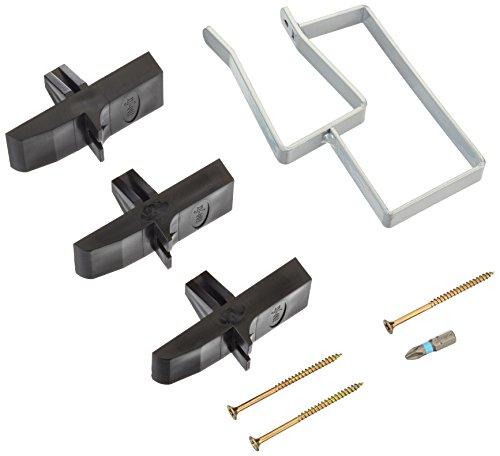 Wolfcraft 4040000 Fixier-Set für Gipskartonplatten Inhalt: Fixierklammer, 3 Haltekreuze, Schrauben und Bit