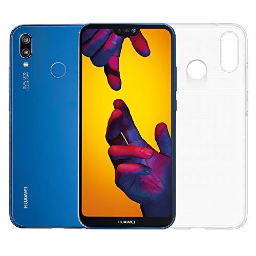 """Huawei P20 Lite (Blu) più cover trasparente, Telefono con 64 GB, Display 5.84"""" Full HD+, Doppia fotocamera posteriore 16+2 Mpx, Processore Octa Core dinamico con IA [Versione Italiana]"""