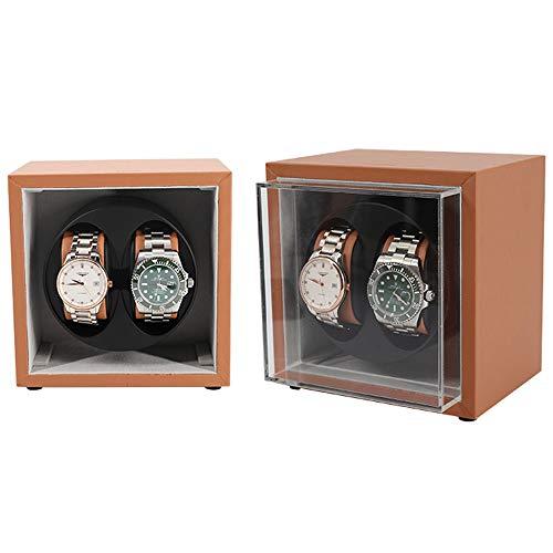 LDDLDG Caja giratoria para Relojes Automático 1 y 2 Pantalla de Soporte de Reloj automático mecánico enrollador de Reloj (Color : A)