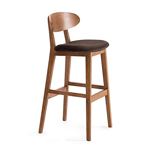 PIVFEDQX Dining Chair Solid Wood Bar Stool Bar Chair High Stool Recliner Bar Chair ZHML Color A Color B