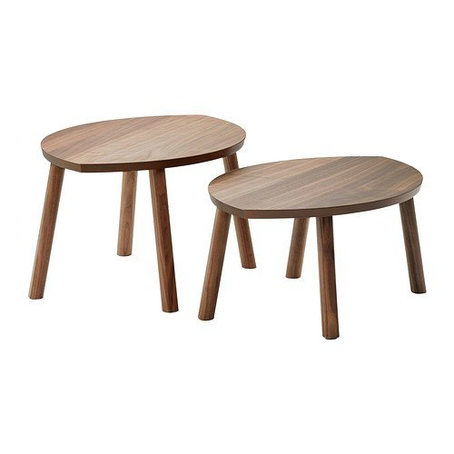 IKEA Stockholm Satztische aus Nussbaumfurnier; 2 Stück