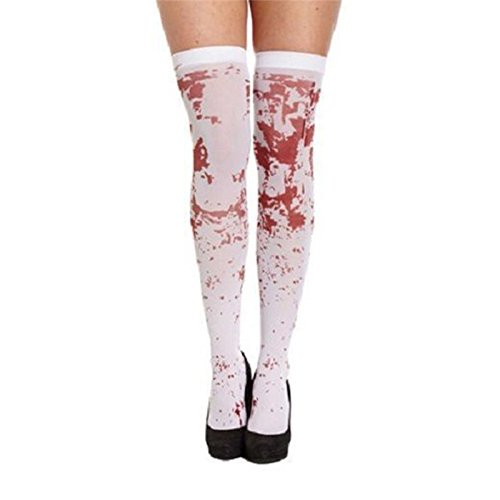 Drawihi Halloween Produkte Halloween Blut Socken COS Kosmetik Tanz Requisiten Socken Ghost Festival Blut Socken