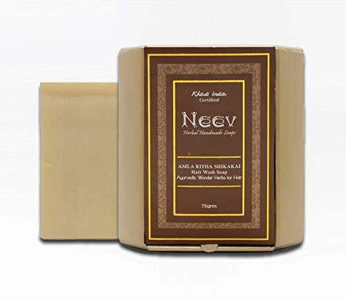 Neev Herbal Handmade Soaps Ayurvedic Hearbs Amla Ritha Shikakai Hair Wash Soap