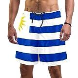Eslifey Herren Strand Shorts Uruguay Flagge Badehose elastisch Badeanzug Boardshorts für Herren, L Gr. Verschiedene Größen, multi