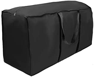 Waterproof Garden Furniture Storage Bag Cushions Protective Cover Heavy Duty with Handle 210D Oxford Cloth for Furniture S...
